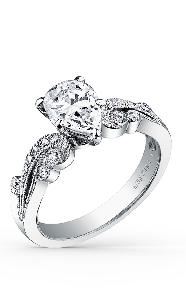 Kirk Kara Angelique - Platinum 0.14ctw Diamond Engagement Ring, K1265DE-R product image