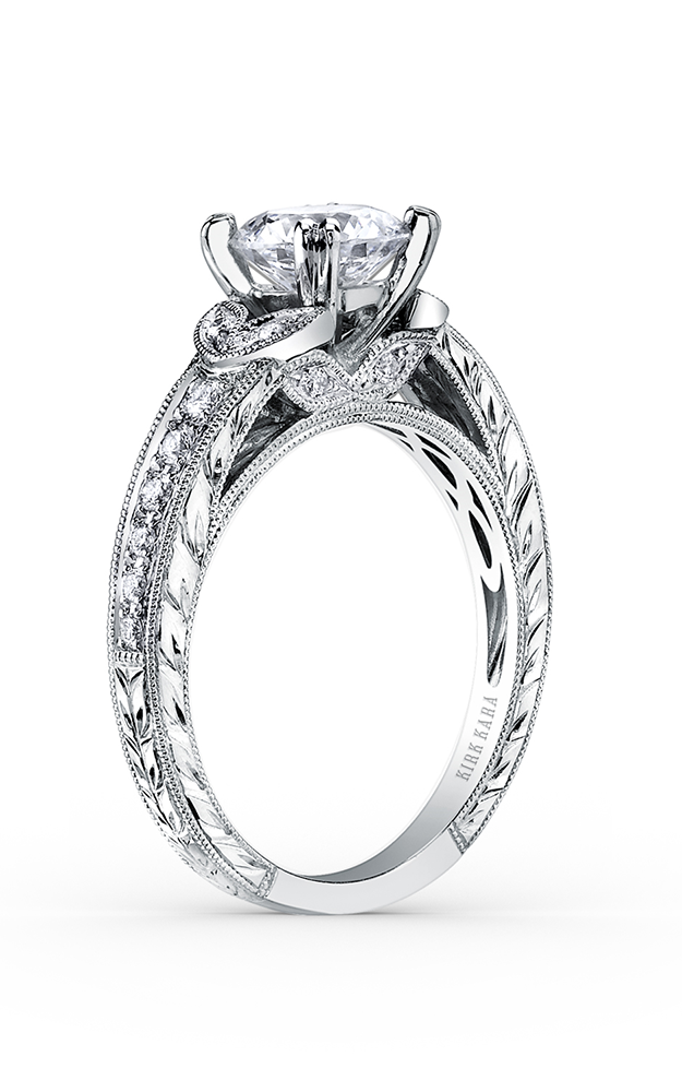 Kirk Kara Dahlia - Platinum 0.21ctw Diamond Engagement Ring, K1350DC-R product image