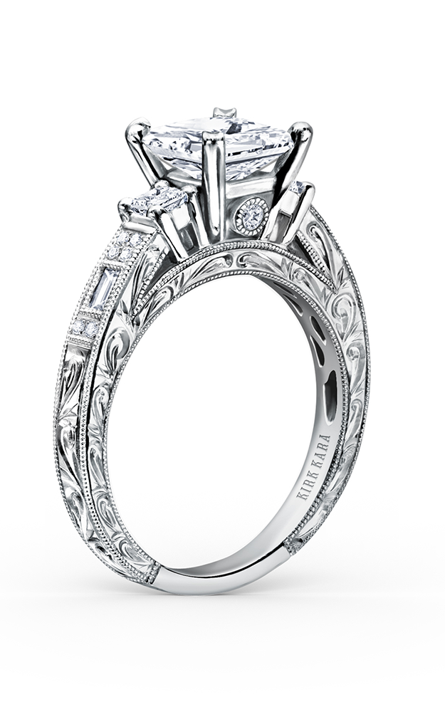 Kirk Kara Charlotte - Platinum 0.39ctw Diamond Engagement Ring, K1383-R product image