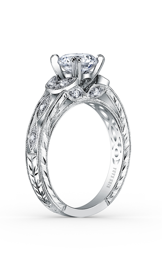 Kirk Kara Dahlia - Platinum 0.12ctw Diamond Engagement Ring, K1420DC-R product image