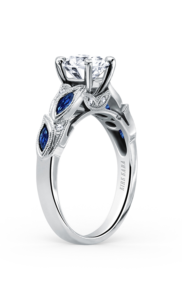 Kirk Kara Dahlia - Platinum 0.04ctw Diamond Engagement Ring, K155BDR product image