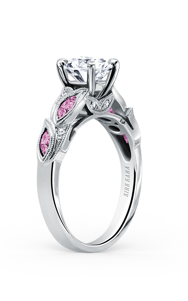 Kirk Kara Dahlia - Platinum 0.04ctw Diamond Engagement Ring, K155PDR product image