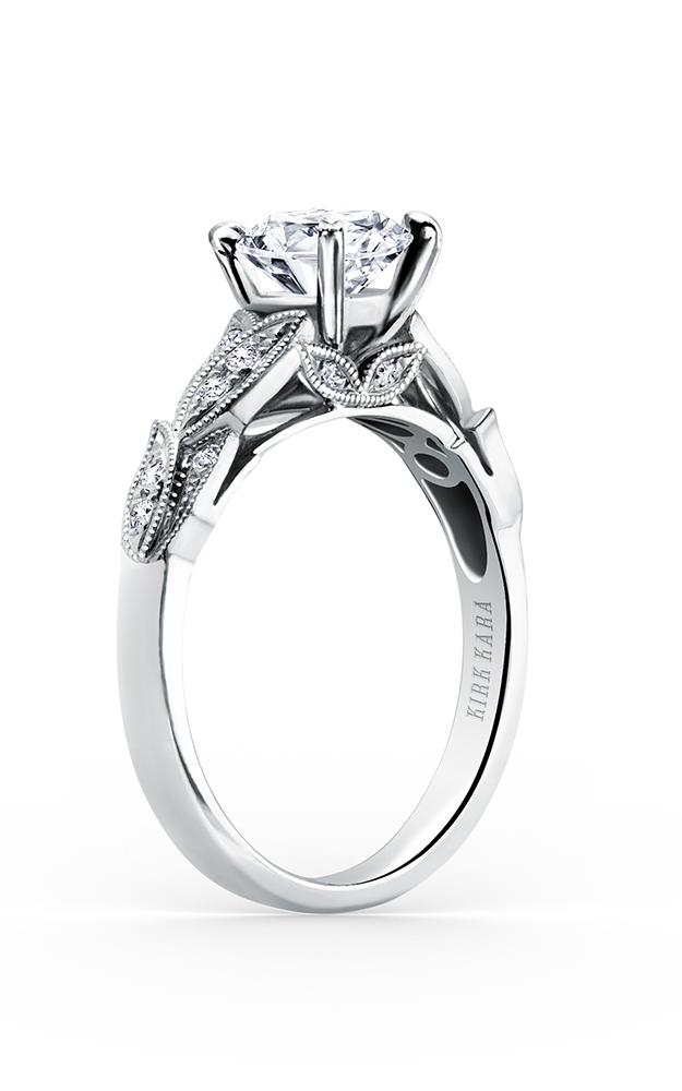 Kirk Kara Dahlia - Platinum 0.11ctw Diamond Engagement Ring, K156R product image
