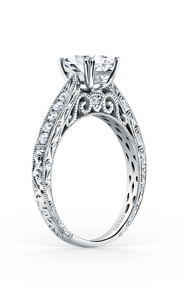 Kirk Kara Stella - Platinum 0.22ctw Diamond Engagement Ring, K161ES product image
