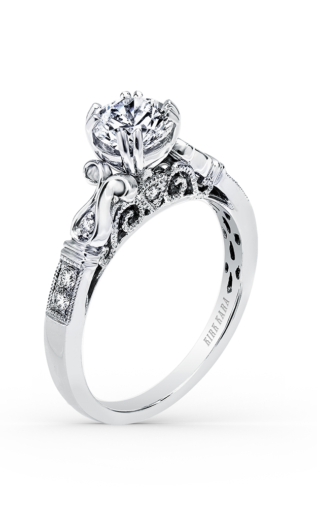 Kirk Kara Pirouetta - Platinum 0.12ctw Diamond Engagement Ring, K163R product image
