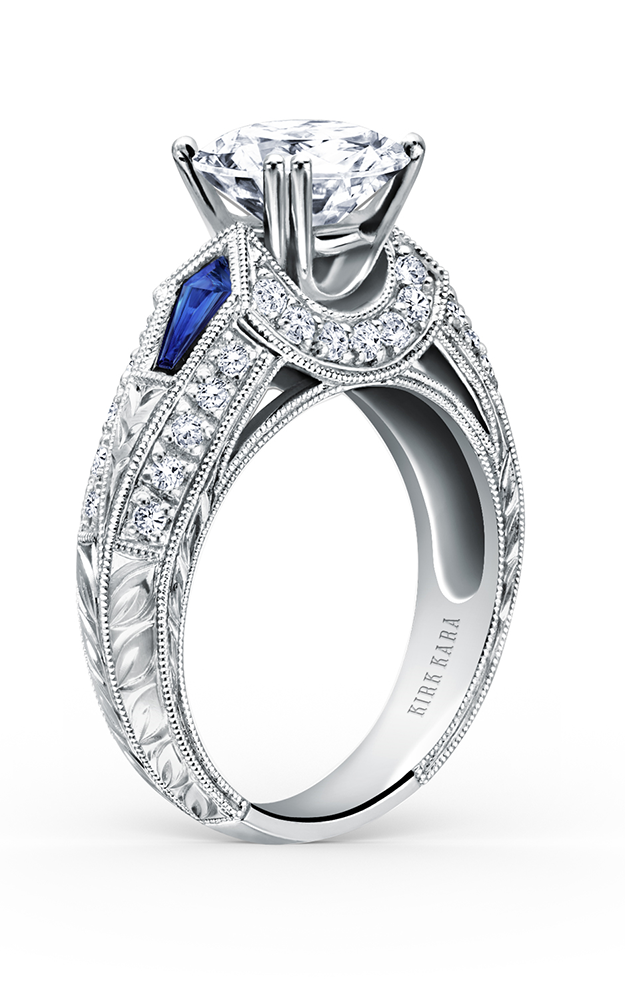 Kirk Kara Charlotte - Platinum 0.37ctw Diamond Engagement Ring, SS6637-R product image