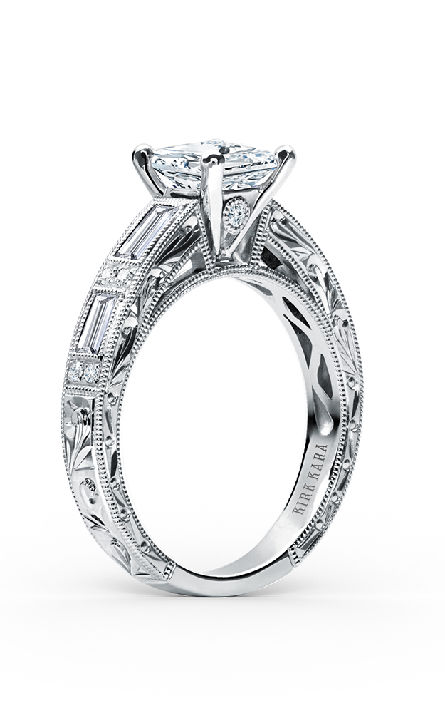 Kirk Kara Charlotte - Platinum 0.55ctw Diamond Engagement Ring, SS6685D-R product image