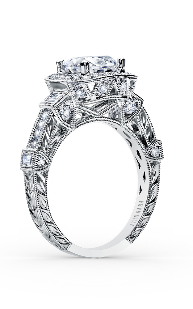 Kirk Kara Carmella - Platinum 0.22, 0.57, 0.18ctw Diamond Engagement Ring, SS6757A-R product image