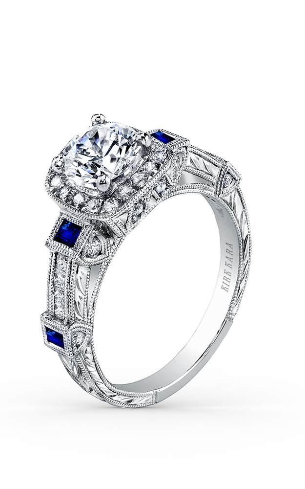 Kirk Kara Carmella - Platinum 0.50ctw Diamond Engagement Ring, SS6757S-R product image