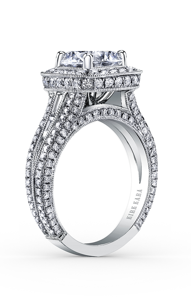 Kirk Kara Carmella - Platinum 0.24, 1.34ctw Diamond Engagement Ring, SS6933TC-R product image