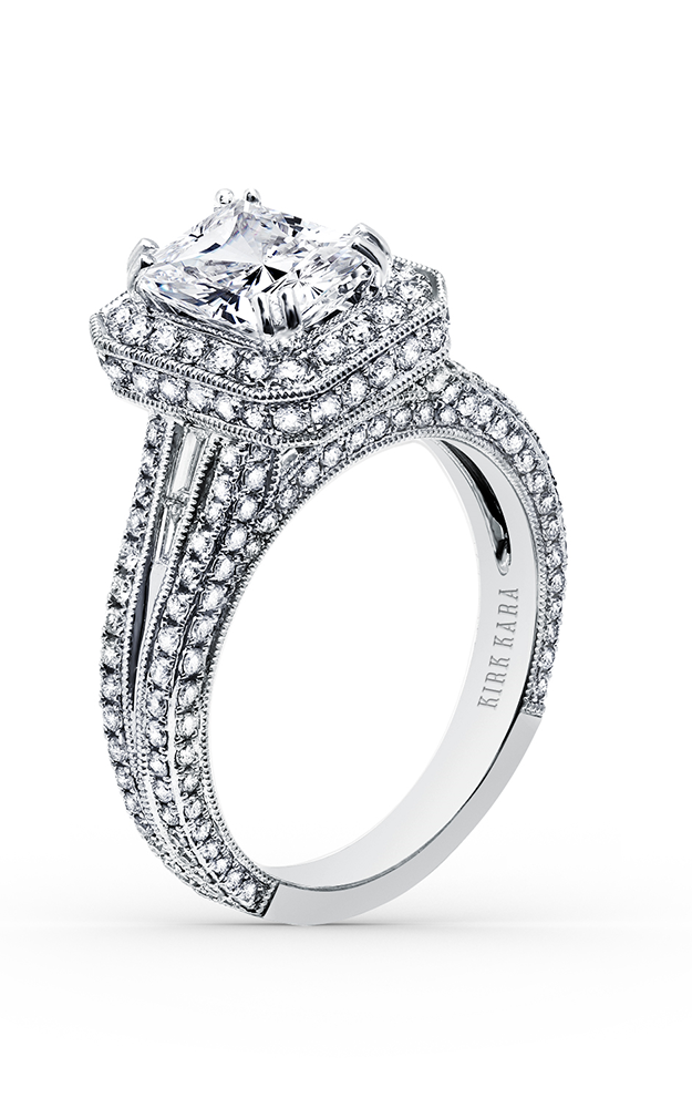 Kirk Kara Carmella - Platinum 0.25, 1.34ctw Diamond Engagement Ring, SS6983TC-R product image