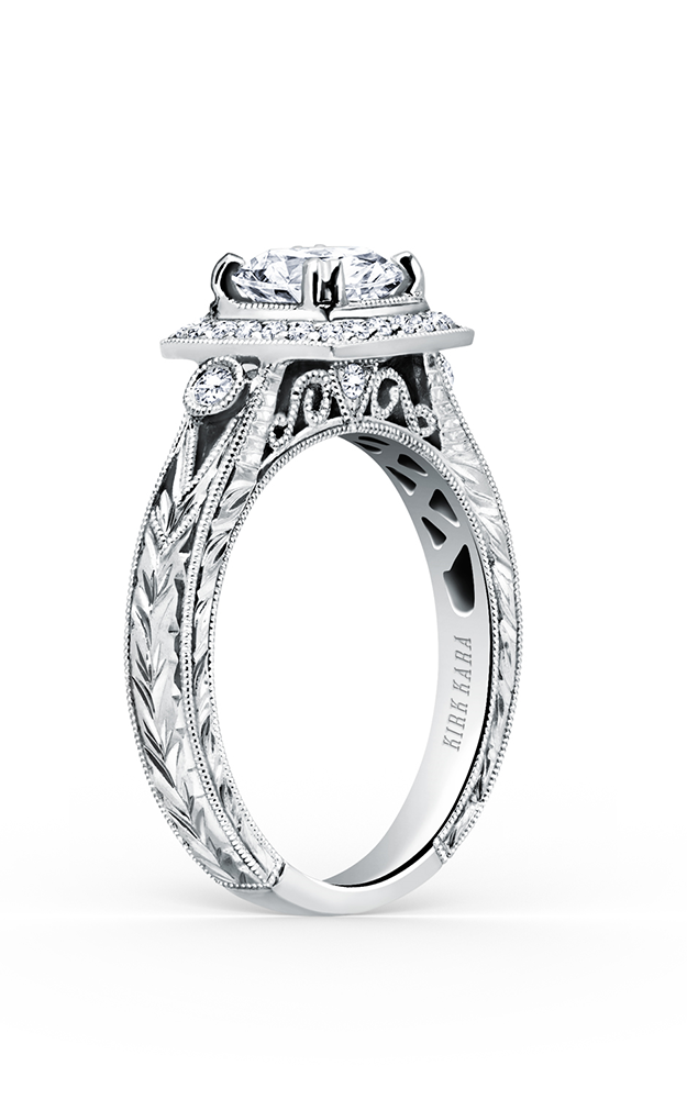 Kirk Kara Carmella - 18k white gold 0.22ctw Diamond Engagement Ring, K183C65R product image