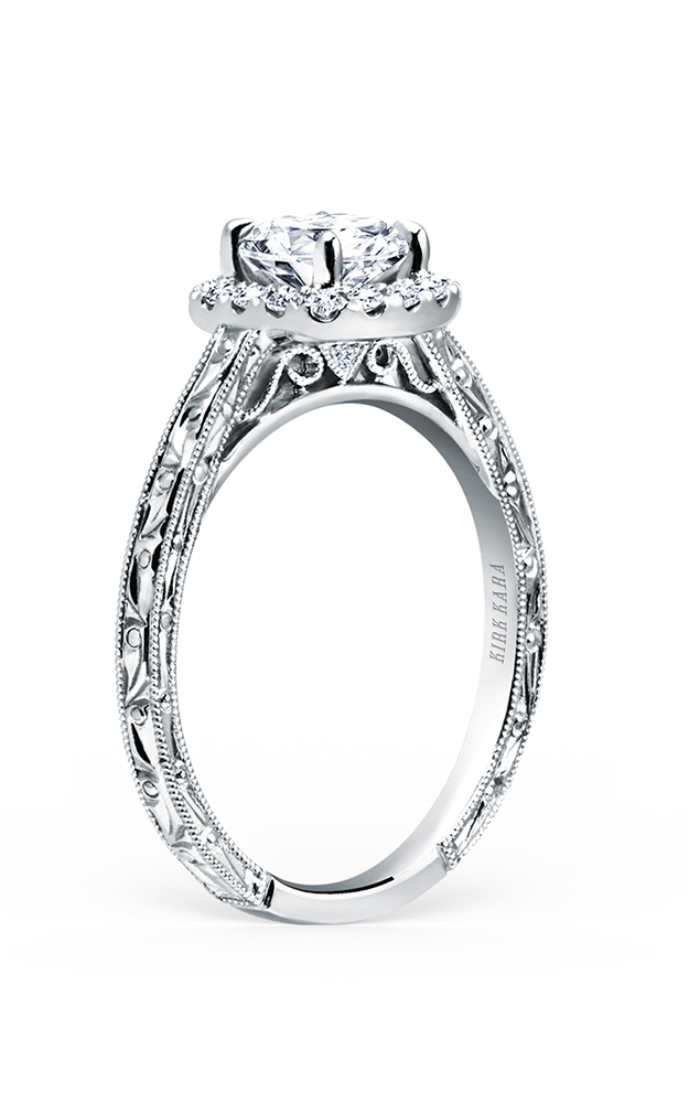 Kirk Kara Carmella - 18k white gold  Engagement Ring, K184NEC6R product image