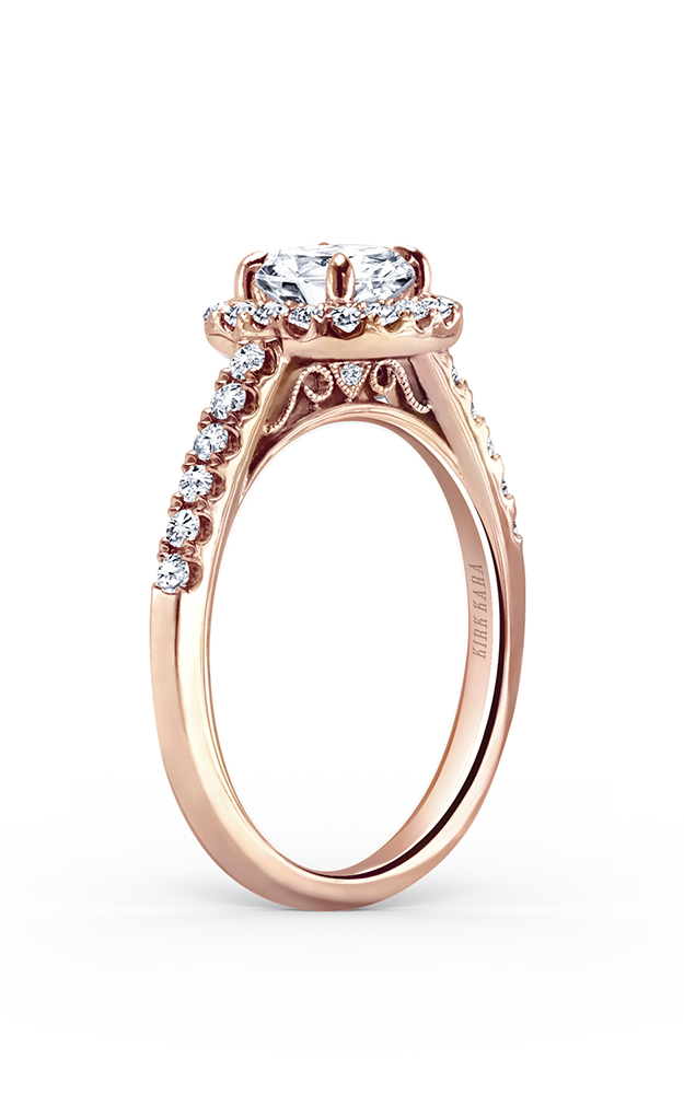 Kirk Kara Carmella - 18k rose gold 0.36ctw Diamond Engagement Ring, K184C6RR product image