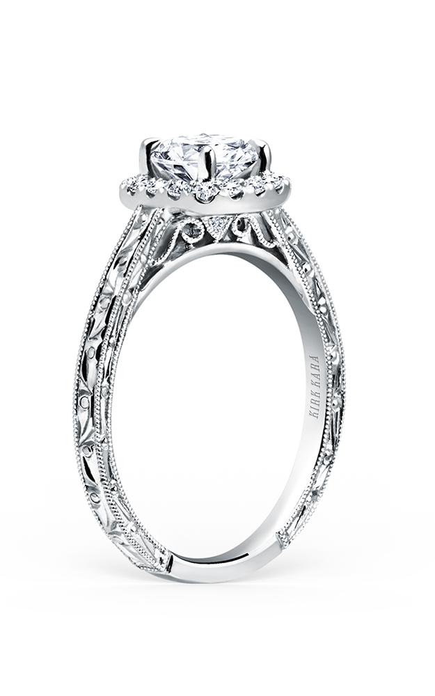 Kirk Kara Carmella - Platinum 0.17ctw Diamond Engagement Ring, K184NEC6R product image