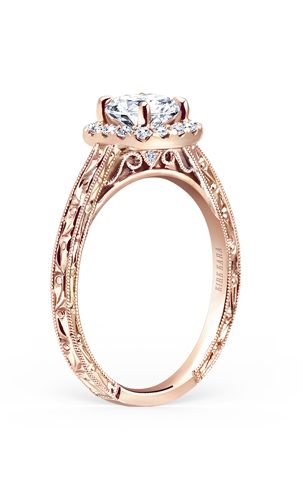 Kirk Kara Carmella - 18k rose gold 0.17ctw Diamond Engagement Ring, K184NEC6RR product image