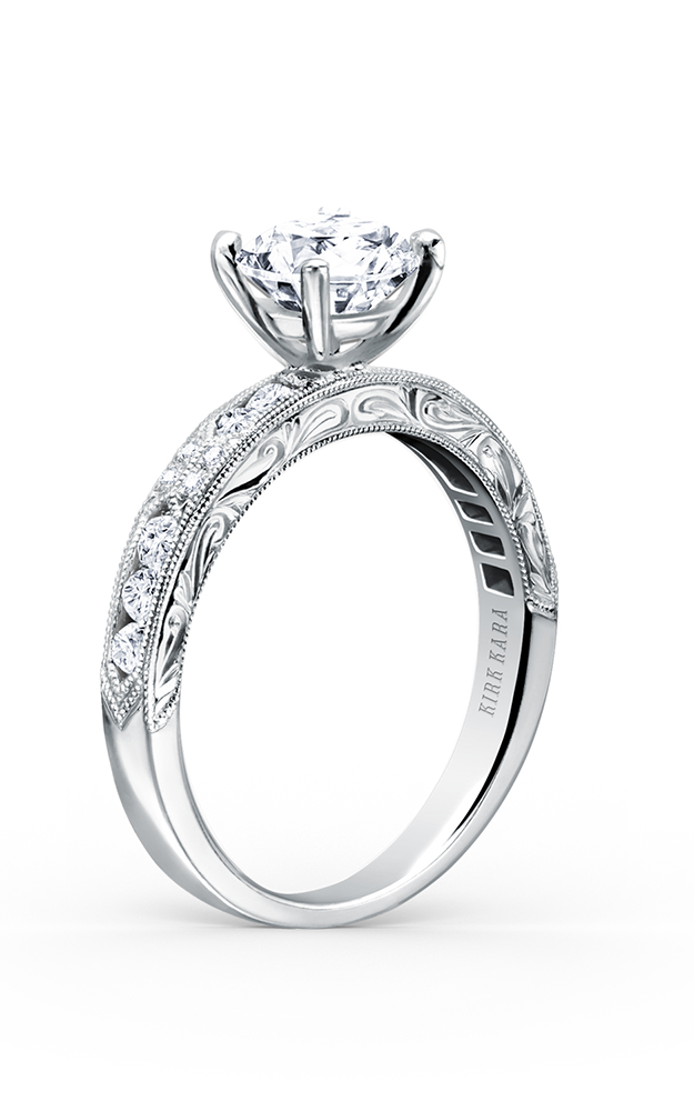 Kirk Kara Charlotte - 18k white gold 0.38ctw Diamond Engagement Ring, K1390D-R product image