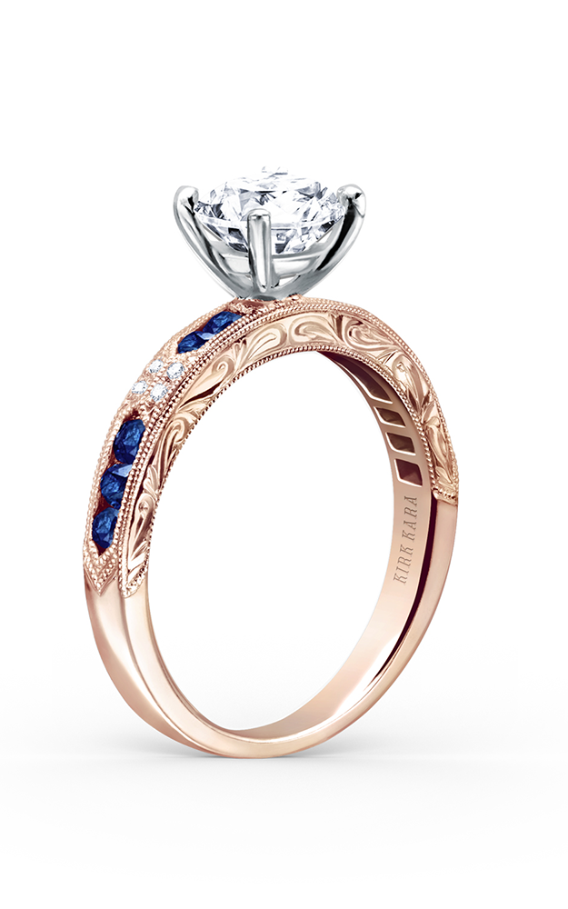Kirk Kara Charlotte - 18k rose gold 0.03ctw Diamond Engagement Ring, K1390SD-RR product image