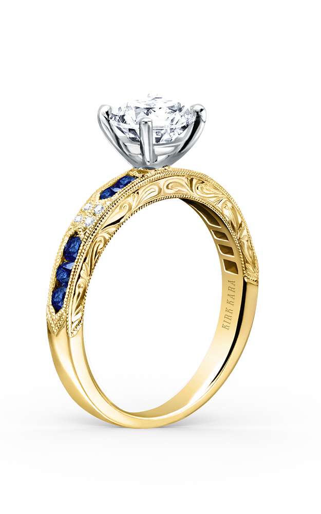 Kirk Kara Charlotte - 18k yellow gold 0.03ctw Diamond Engagement Ring, K1390SD-RY product image
