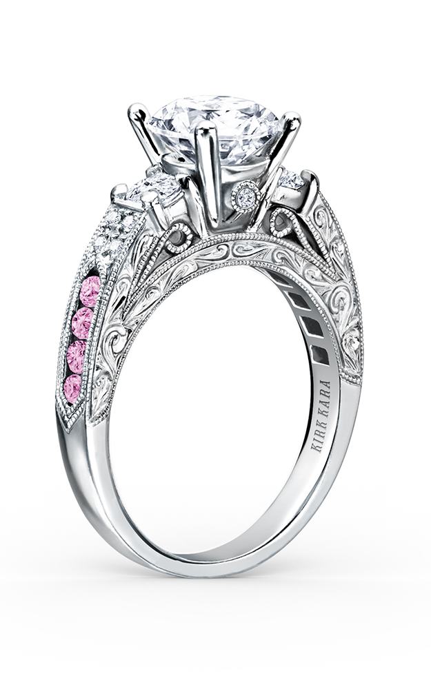 Kirk Kara Charlotte - 18k white gold 0.40ctw Diamond Engagement Ring, K1390VDE-R product image
