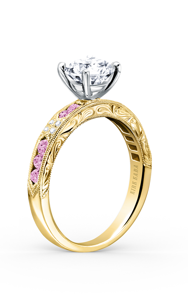 Kirk Kara Charlotte - 18k yellow gold 0.03ctw Diamond Engagement Ring, K1390VD-RY product image
