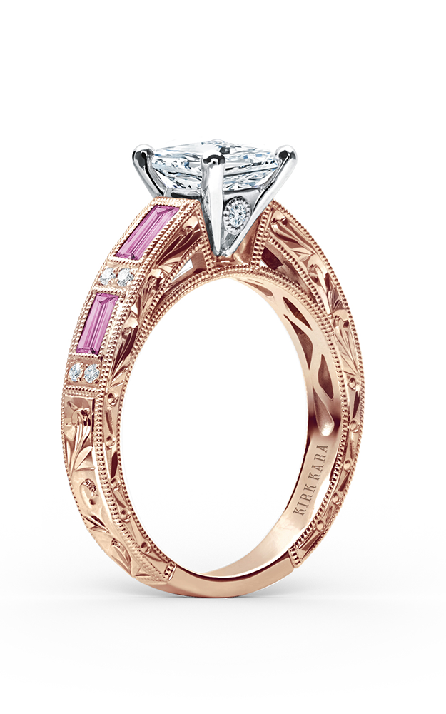 Kirk Kara Charlotte - 18k rose gold 0.09ctw Diamond Engagement Ring, SS6685P-RR product image