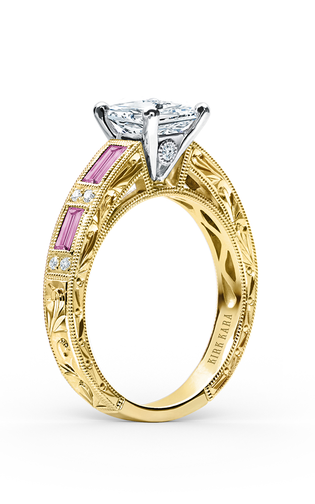 Kirk Kara Charlotte - 18k yellow gold 0.09ctw Diamond Engagement Ring, SS6685P-RY product image