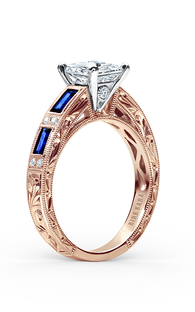 Kirk Kara Charlotte - 18k rose gold 0.09ctw Diamond Engagement Ring, SS6685-RR product image