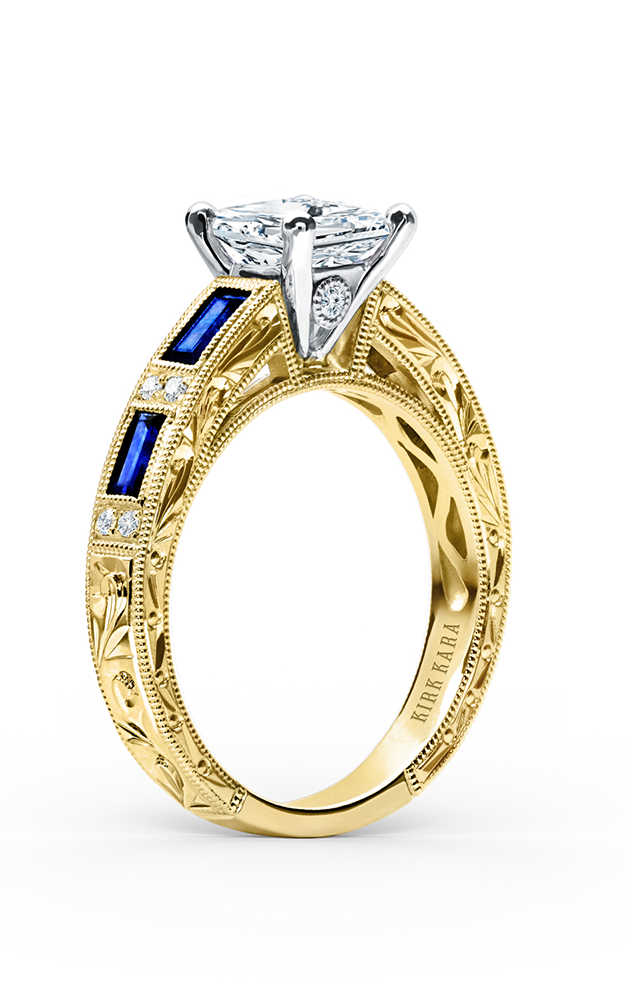 Kirk Kara Charlotte - 18k yellow gold 0.09ctw Diamond Engagement Ring, SS6685-RY product image