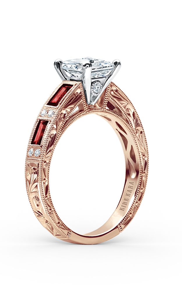 Kirk Kara Charlotte - 18k rose gold 0.09ctw Diamond Engagement Ring, SS6685R-RR product image