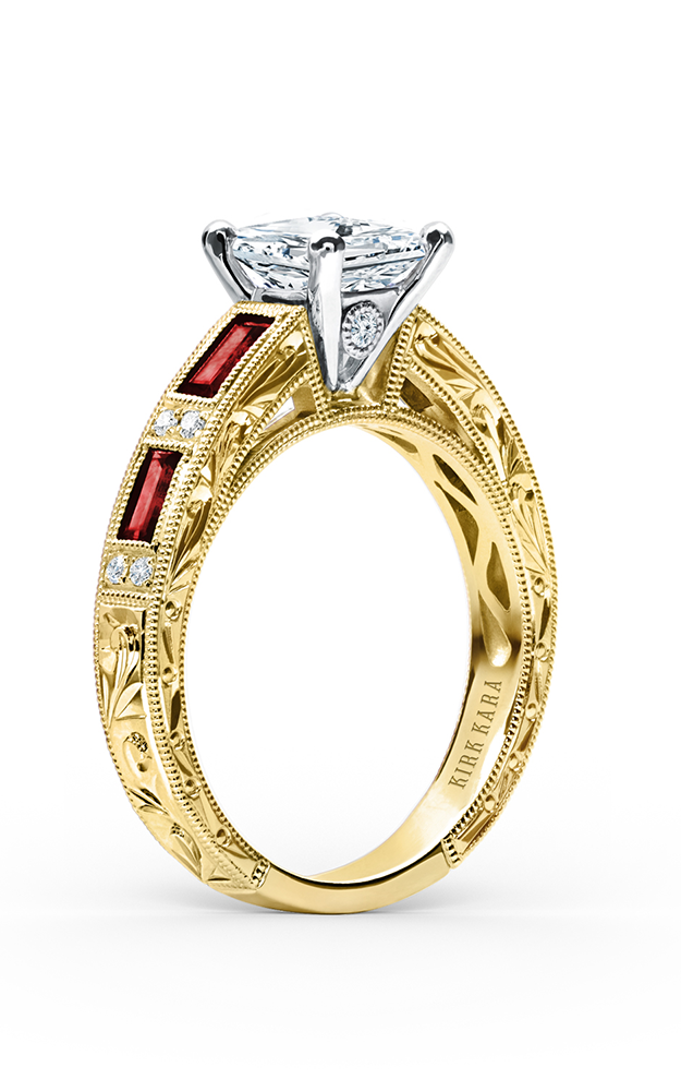 Kirk Kara Charlotte - 18k yellow gold 0.09ctw Diamond Engagement Ring, SS6685R-RY product image