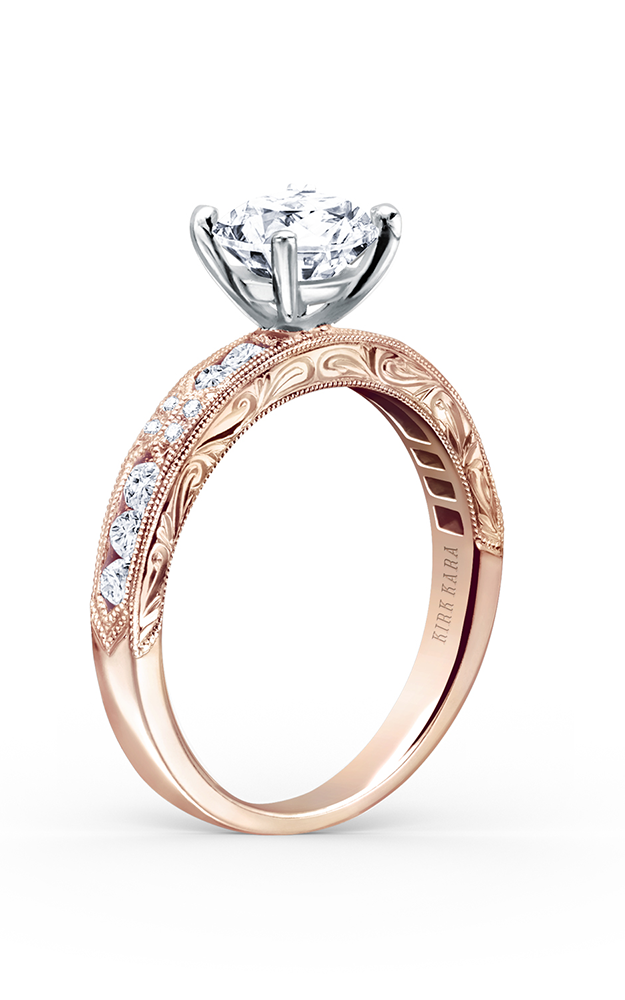 Kirk Kara Charlotte - 18k rose gold 0.38ctw Diamond Engagement Ring, K1390D-RR product image