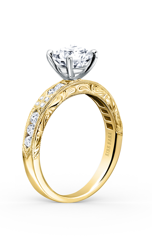Kirk Kara Charlotte - 18k yellow gold 0.38ctw Diamond Engagement Ring, K1390D-RY product image