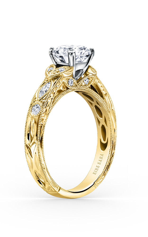 Kirk Kara Dahlia - 18k yellow gold 0.27ctw Diamond Engagement Ring, K1120DCY-R product image