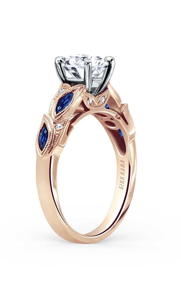 Kirk Kara Dahlia - 18k rose gold 0.04ctw Diamond Engagement Ring, K155BDRR product image