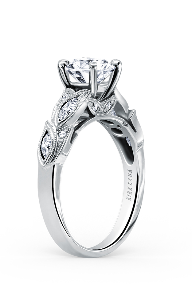 Kirk Kara Dahlia - 18k white gold 0.34ctw Diamond Engagement Ring, K155R product image