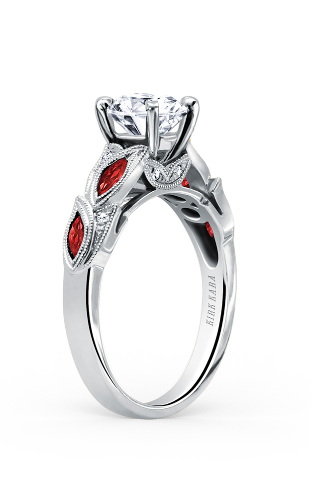 Kirk Kara Dahlia - 18k white gold 0.04ctw Diamond Engagement Ring, K155RDR product image
