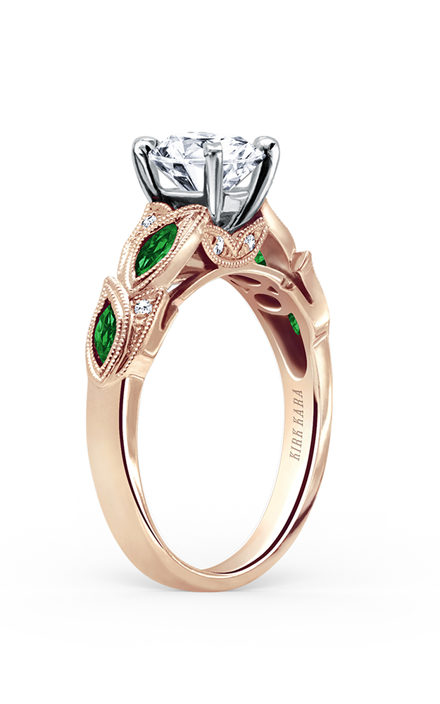 Kirk Kara Dahlia - 18k rose gold 0.04ctw Diamond Engagement Ring, K155TDRR product image