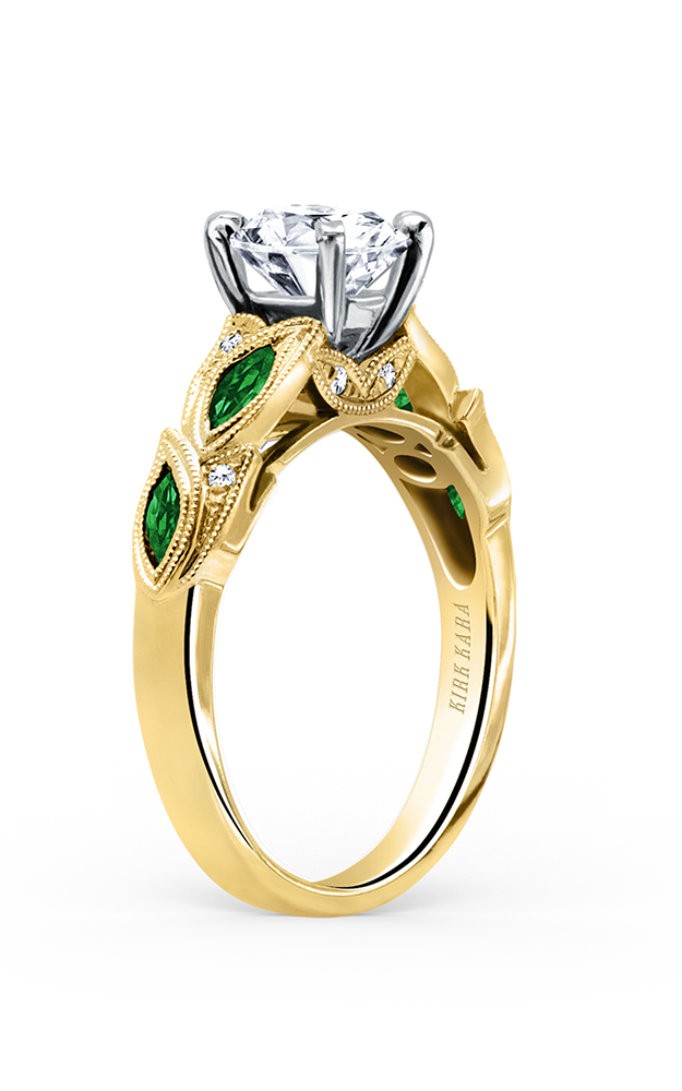 Kirk Kara Dahlia - 18k yellow gold 0.04ctw Diamond Engagement Ring, K155TDRY product image