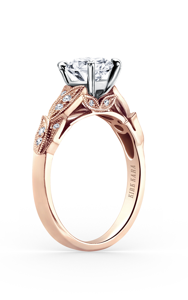 Kirk Kara Dahlia - 18k rose gold 0.11ctw Diamond Engagement Ring, K156RR product image