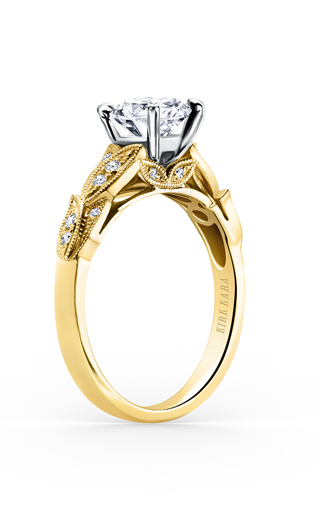 Kirk Kara Dahlia - 18k yellow gold 0.11ctw Diamond Engagement Ring, K156RY product image