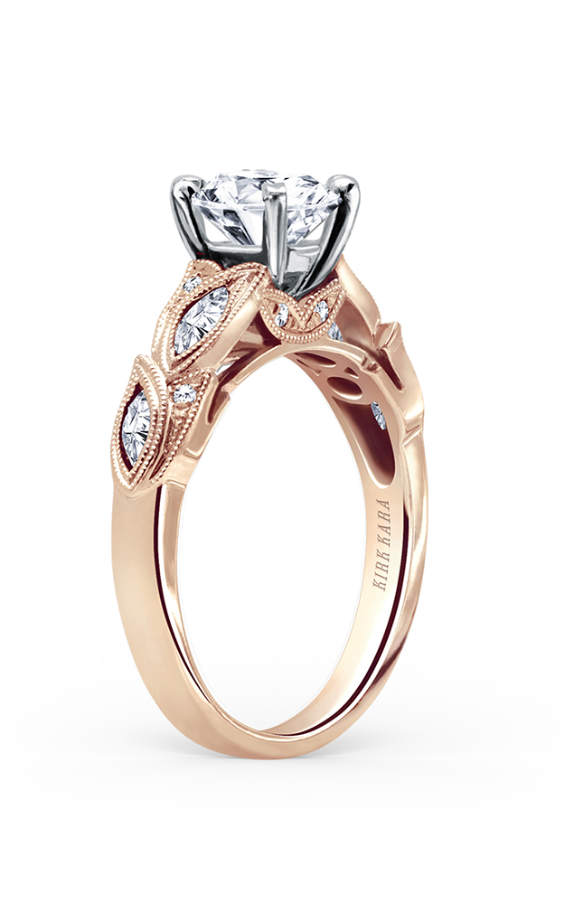 Kirk Kara Dahlia - 18k rose gold 0.34ctw Diamond Engagement Ring, K155RR product image