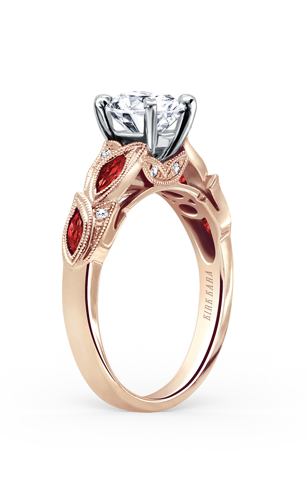 Kirk Kara Dahlia - 18k yellow gold 0.04ctw Diamond Engagement Ring, K155RDRY product image