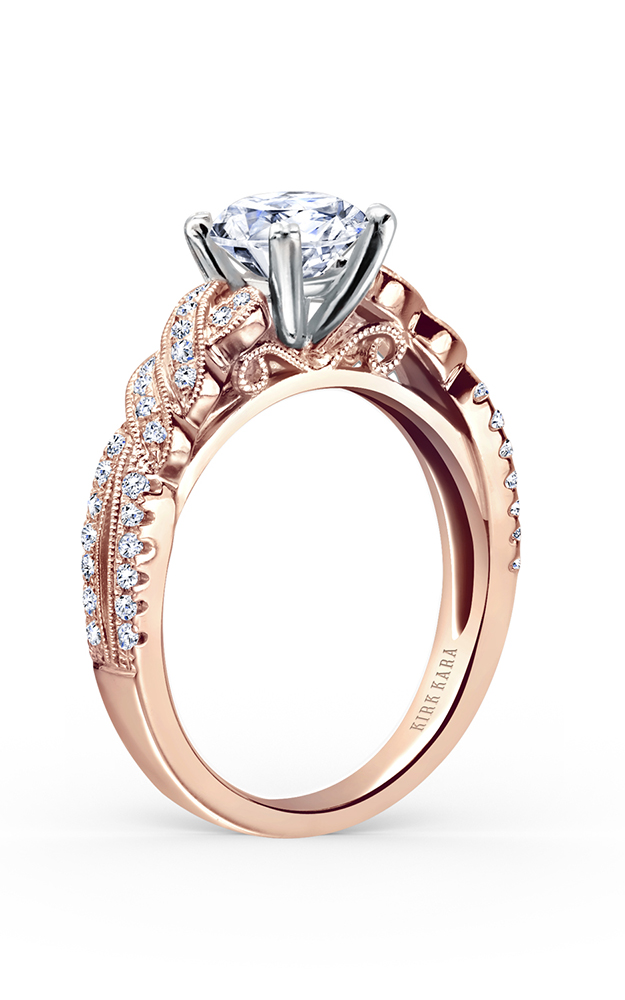 Kirk Kara Pirouetta - 18k rose gold 0.21ctw Diamond Engagement Ring, K133RR product image