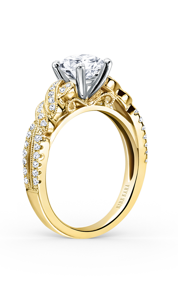 Kirk Kara Pirouetta - 18k white gold 0.21ctw Diamond Engagement Ring, K133RY product image