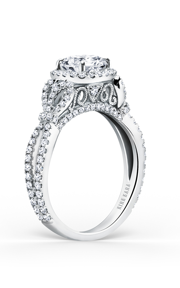 Kirk Kara Pirouetta - 18k white gold 0.70ctw Diamond Engagement Ring, K174C65R product image