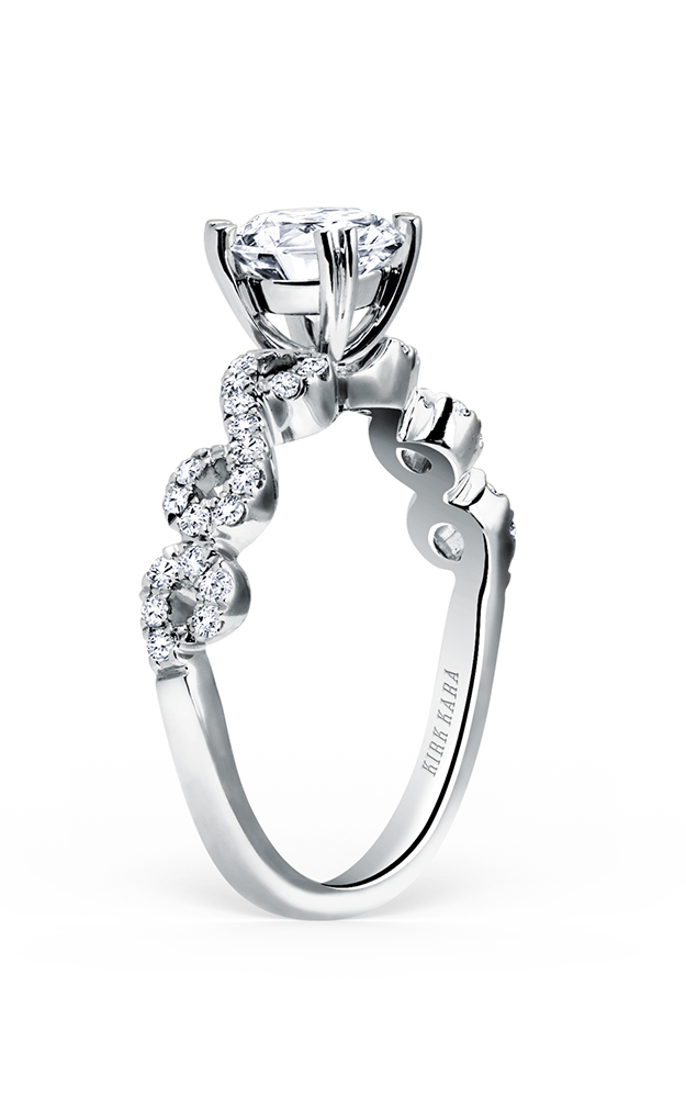 Kirk Kara Pirouetta - 18k white gold 0.26ctw Diamond Engagement Ring, K182R product image
