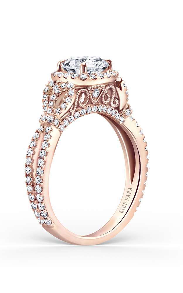 Kirk Kara Pirouetta - 18k rose gold 0.70ctw Diamond Engagement Ring, K174C65RR product image