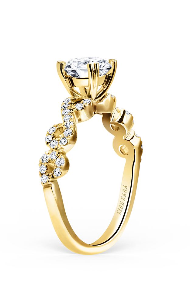 Kirk Kara Pirouetta - 18k yellow gold 0.26ctw Diamond Engagement Ring, K182RY product image