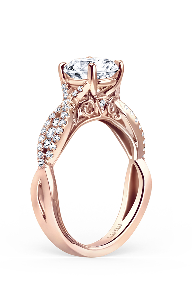 Kirk Kara Pirouetta - 18k rose gold 0.31ctw Diamond Engagement Ring, K199RR product image